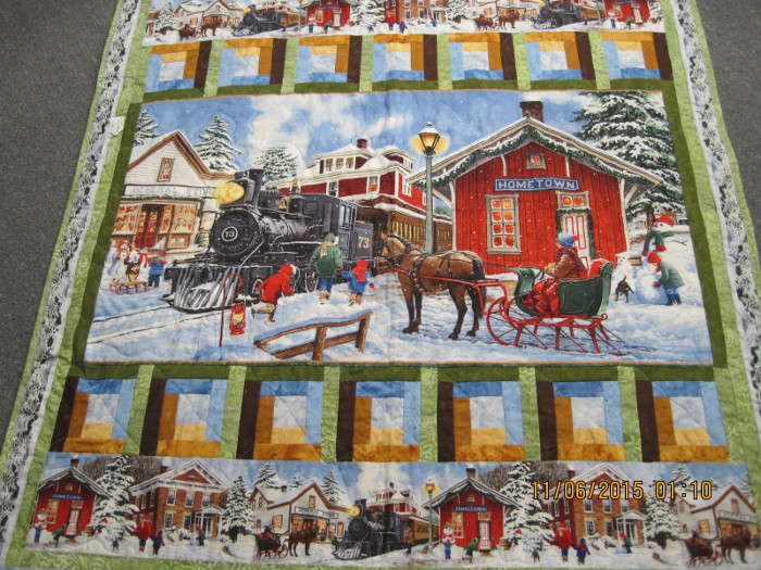 Train and sleigh Quilt