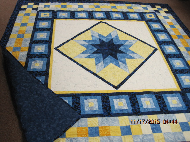 Blue & Yellow Star Quilt