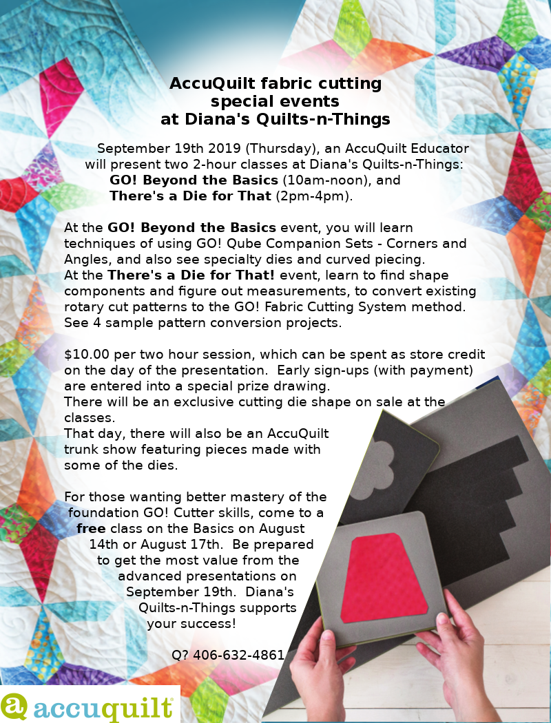 AccuQuilt event flyer