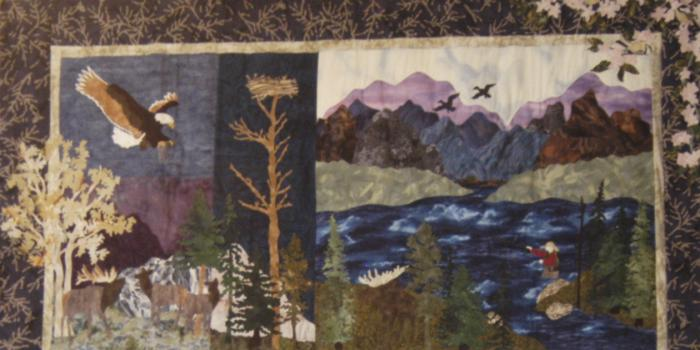 Wilderness quilt detail