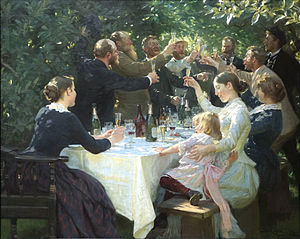 Painting by P.S.Kroyer of a celebration