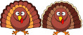 clipart turkeys