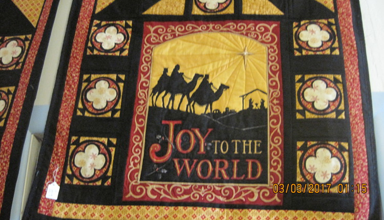 Joy to the World quilted hanging